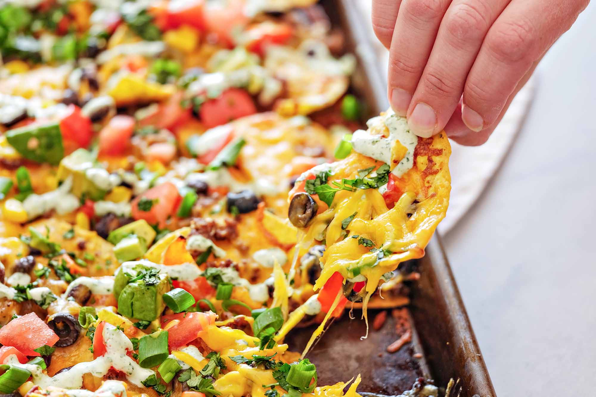 Loaded Sheet Pan Nachos Recipe