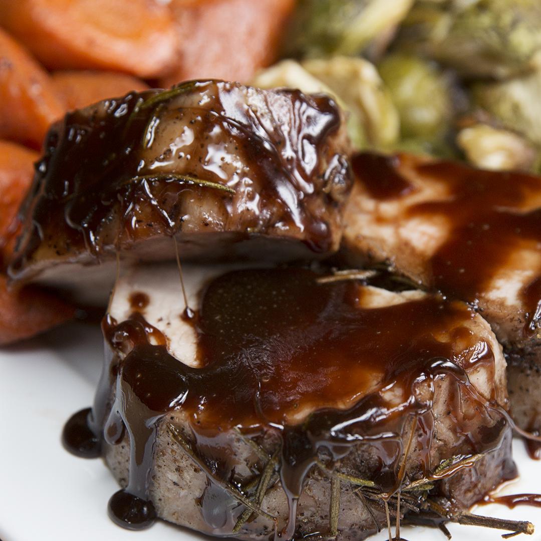 Maple Glazed Pork and Roasted Veggies Recipe