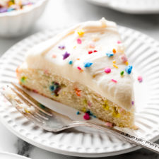 One Layer Sprinkle Cake Recipe