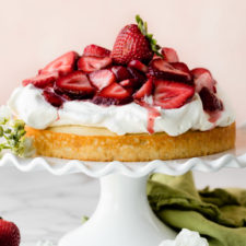 One Layer Strawberry Shortcake Cake Recipe