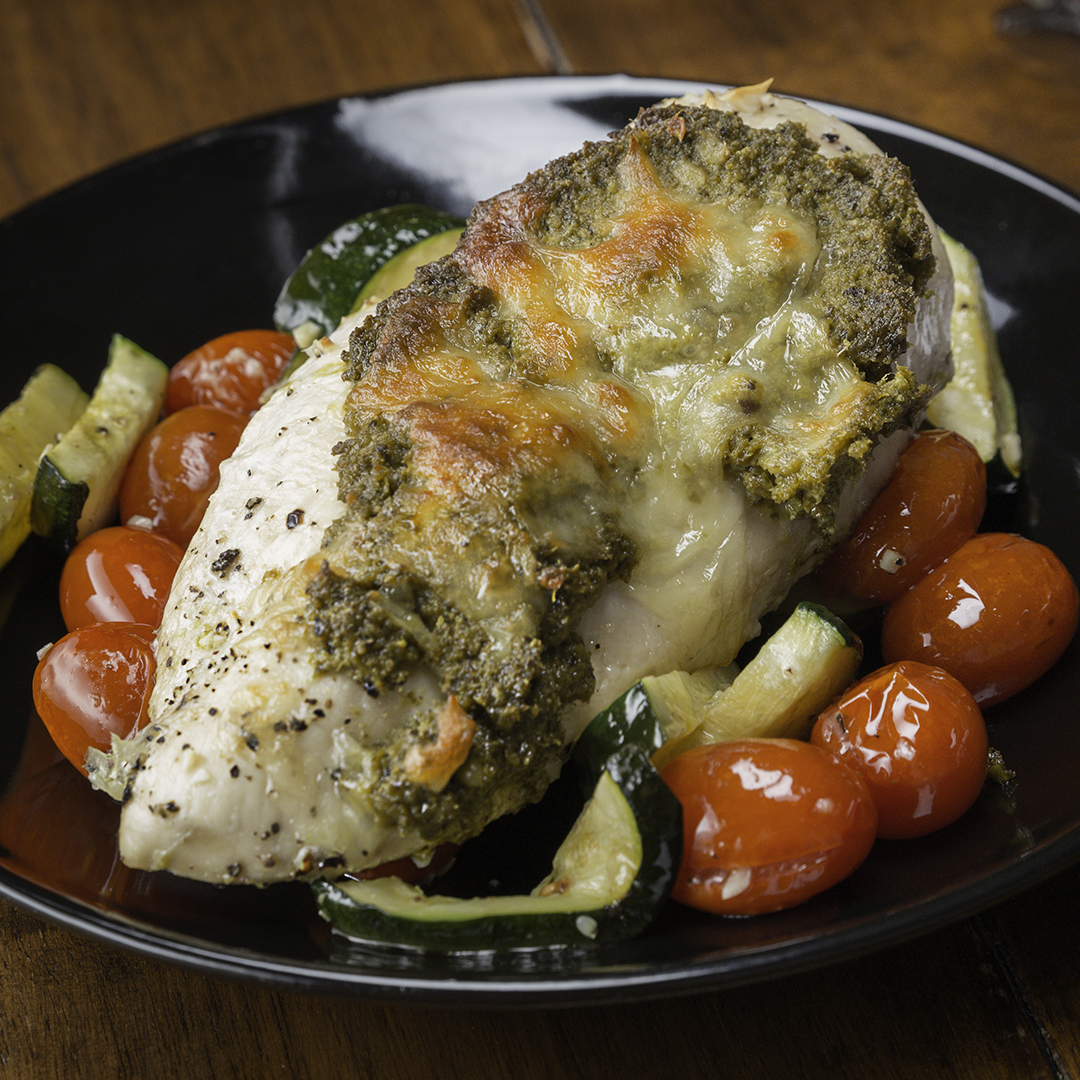 One-Pan Pesto Chicken & Veggies Recipe