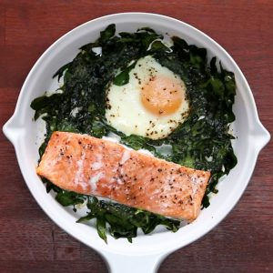 One-Pan Salmon And Egg Bake Recipe