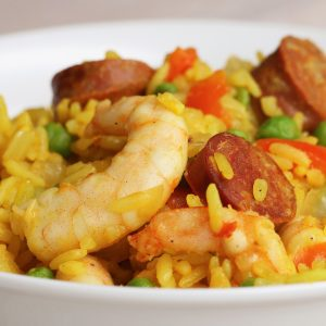 One-Pan Spicy Prawns and Rice Recipe