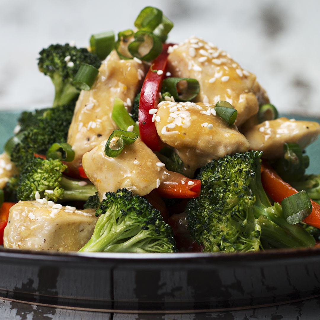 Orange Chicken & Veggie Stir-fry Recipe