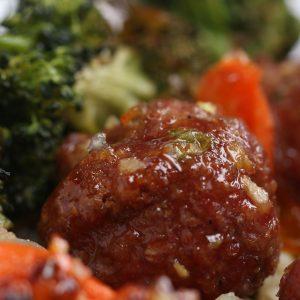 Orange Glazed Meatballs and Veggies Recipe