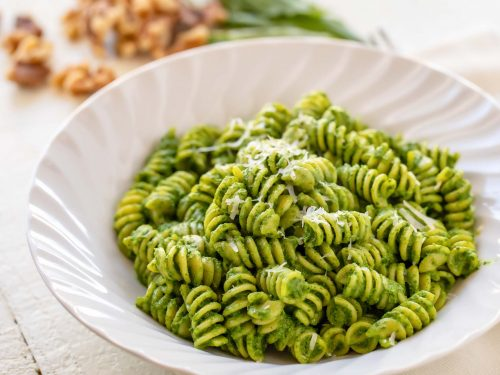 rotini with kale and walnut pesto recipe