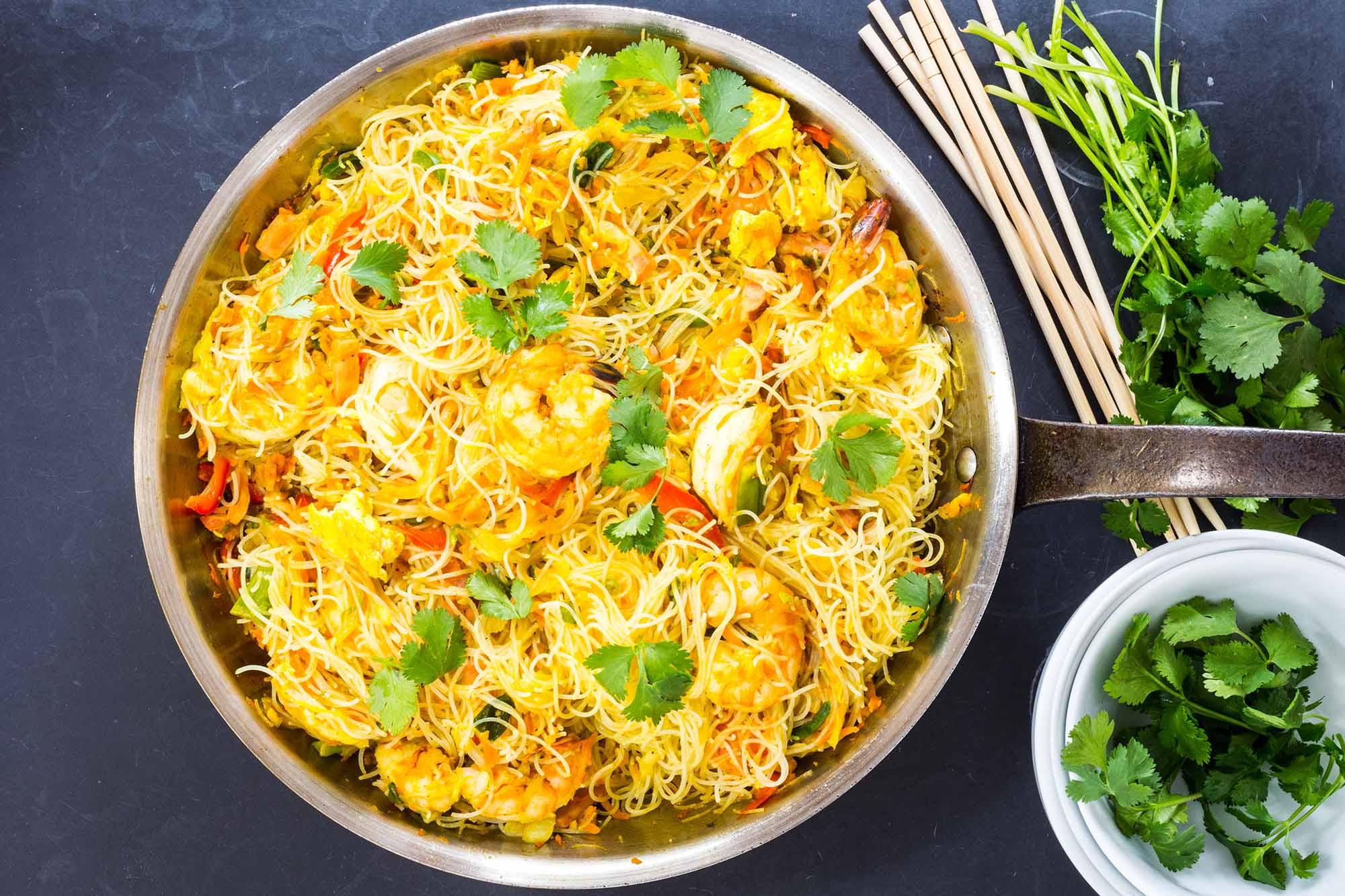 Singapore Noodles with Shrimp Recipe