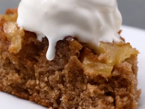 upside-down apple cake recipe