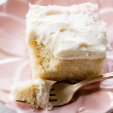 Vanilla Sheet Cake with Whipped Buttercream Frosting Recipe