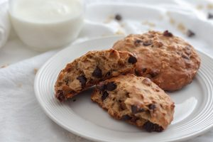 Chewy Chocolate Chip Oatmeal Breakfast Cookie Recipe