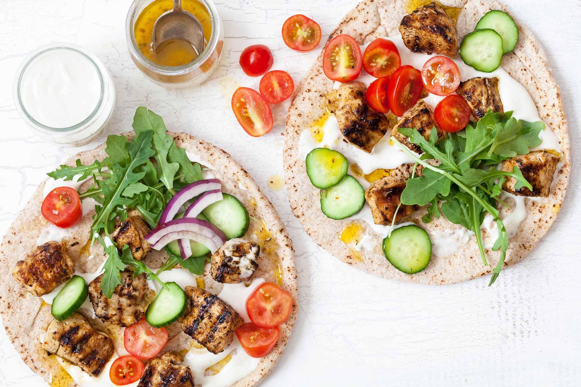 Greek Chicken Skewers with Yogurt Sauce (Chicken Souvlaki) Recipe