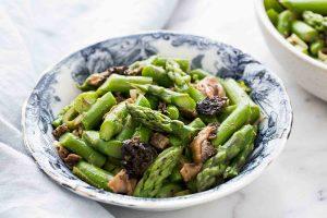 Sautéed Asparagus with Morels Recipe