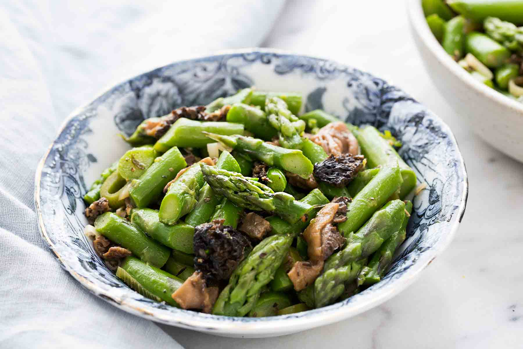 Sautéed Asparagus with Morels Recipe