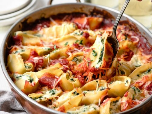 spinach and cheese stuffed shells recipe