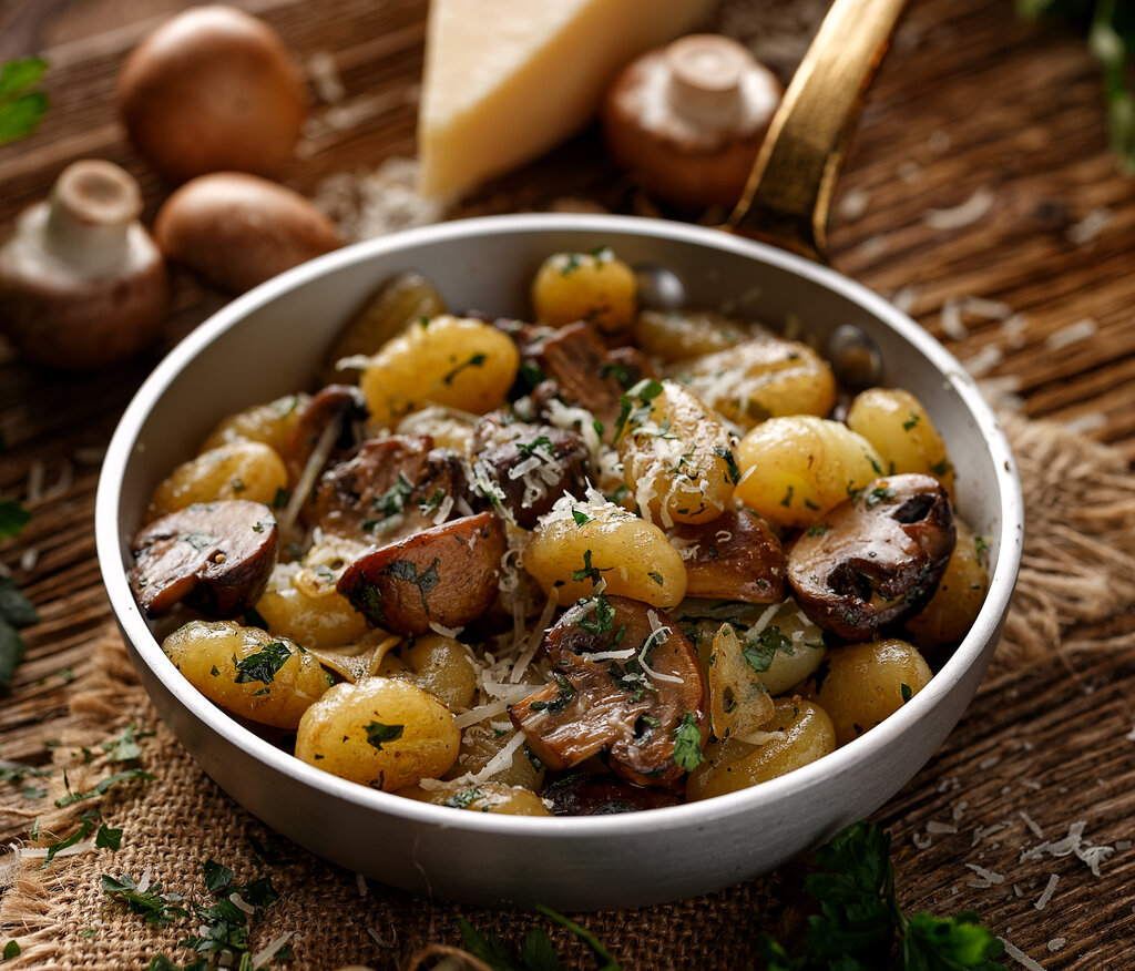 Toasted Gnocchi with Mushrooms Recipe