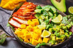Chicken Salad with Mango Avocado Salsa Recipe