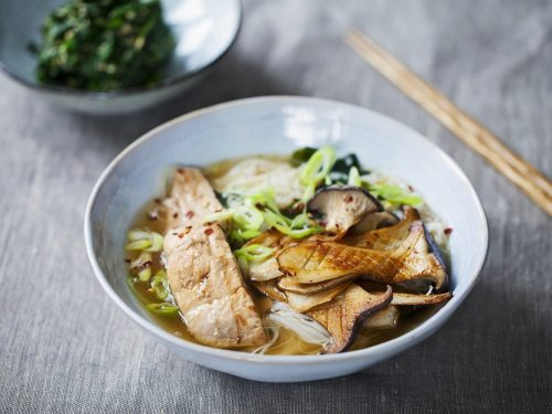 easy miso fish soup with soba