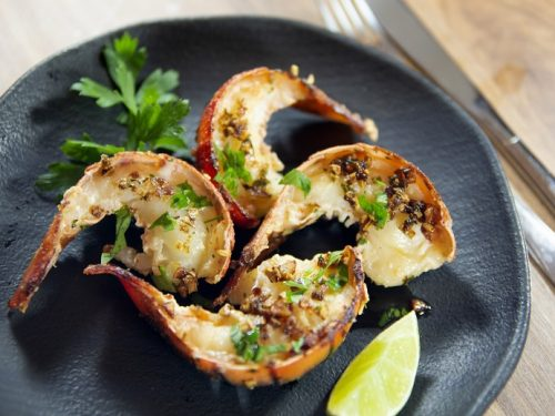 grilled lobster tails with herb garlic butter