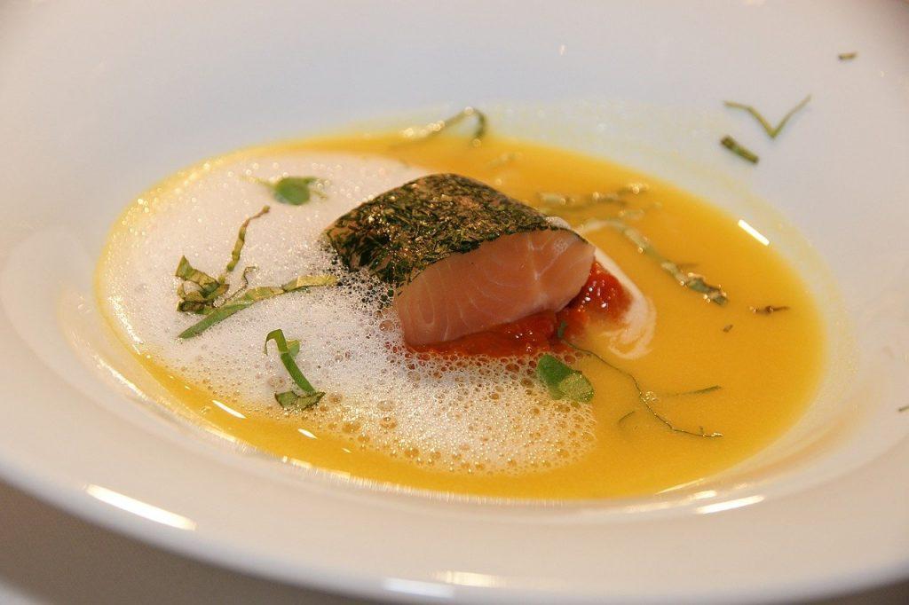 lemon salmon soup