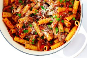Rigatoni with Mushrooms, Rosemary and Parmesan Recipe