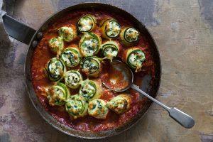 Spinach And Ricotta Zucchini Cannelloni Recipe