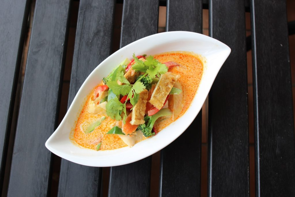 thai panang curry with vegetables