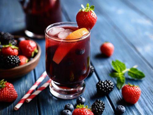 frozen berry sangria