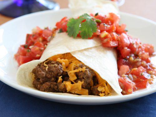 best ground beef burrito