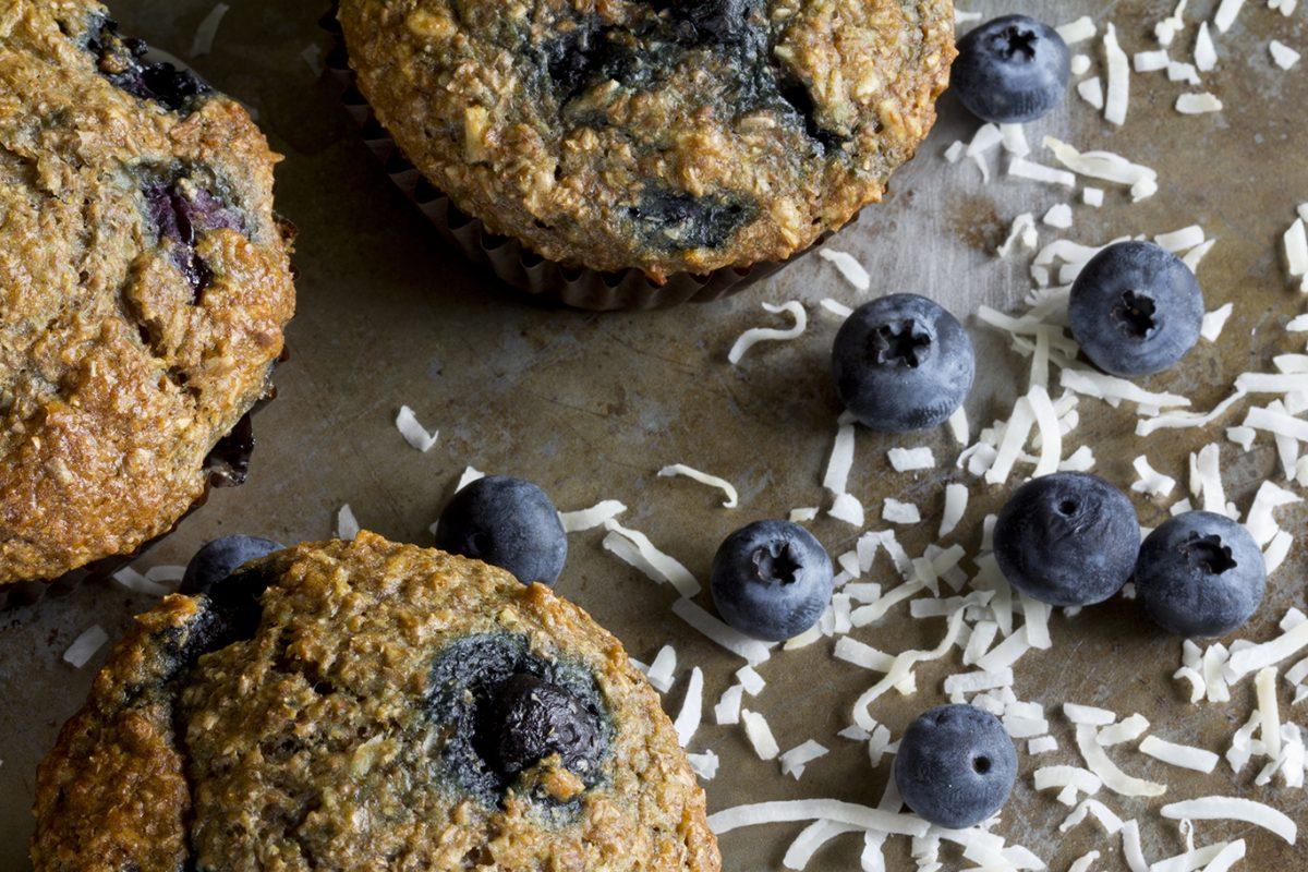 sugary blueberry muffins