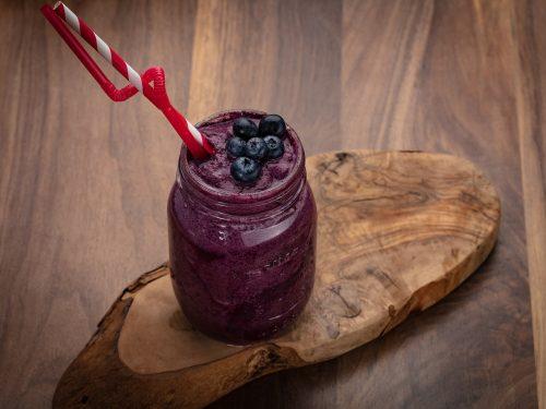 freezing blueberry milkshake