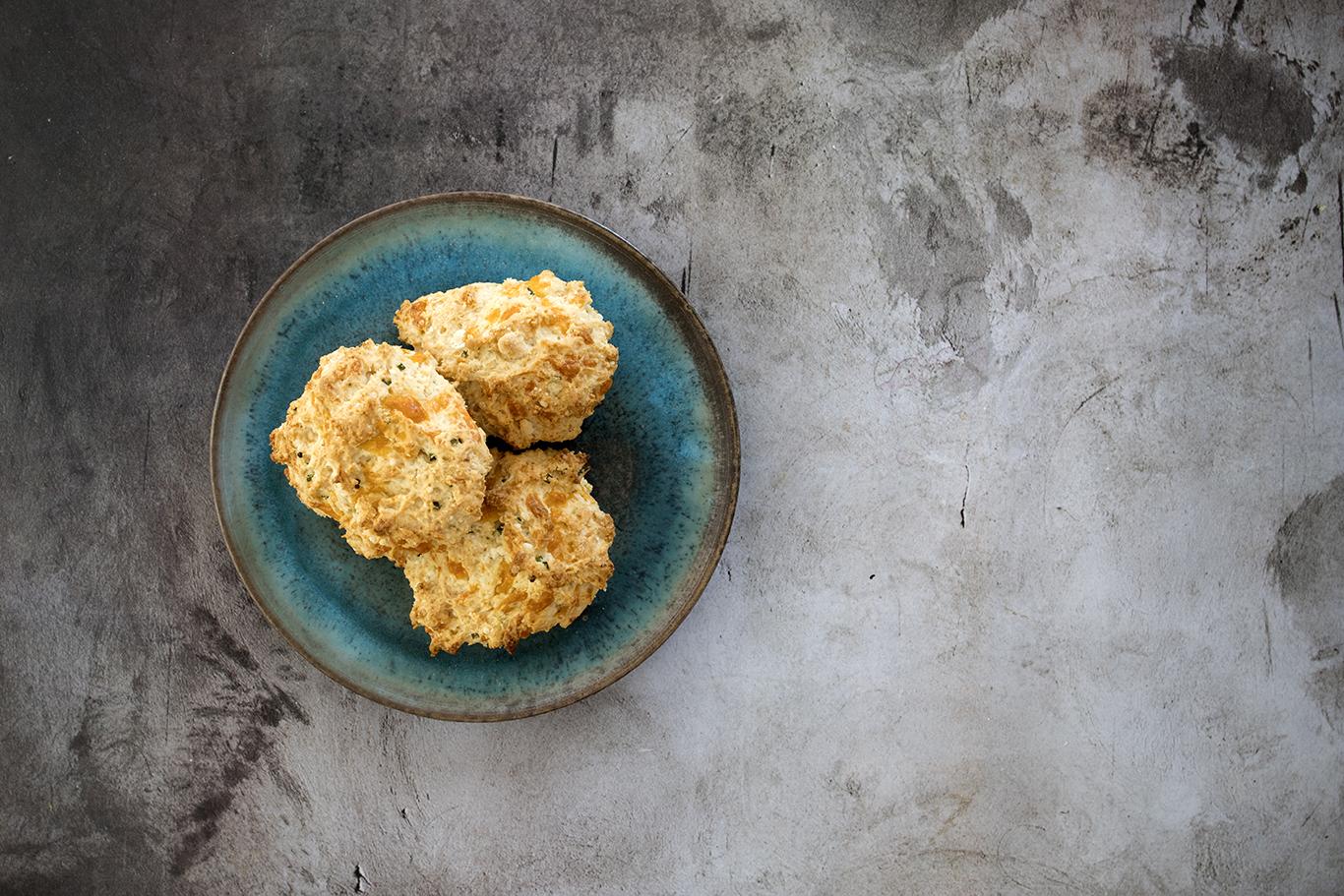 Cheddar-Chive Drop Biscuits Recipe