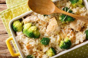 Cheesy Broccoli, Chicken and Rice Bowls Recipe