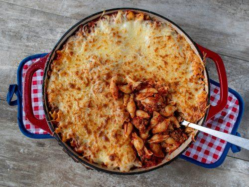 creamy cheesy taco pasta