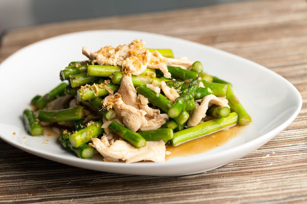 stir-fry chicken and asparagus