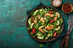 Chicken Cucumber Avocado Salad (NO COOK) Recipe