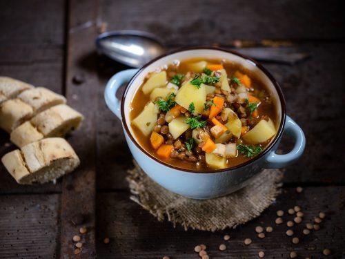 delicious chicken lentil stew