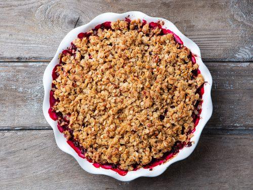 crispy cranberry crisp