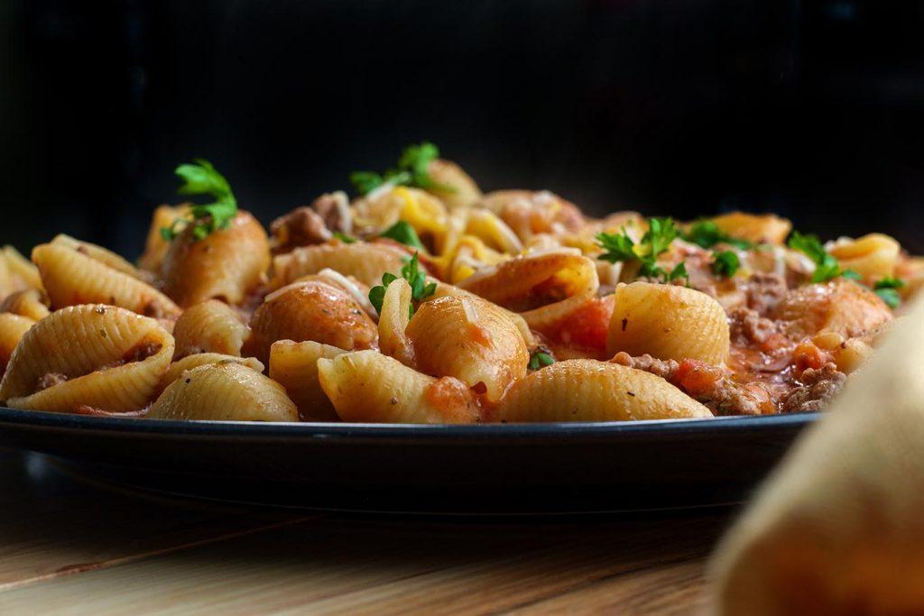 creamy beef pasta shells