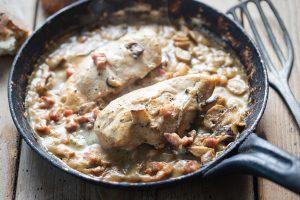 Creamy Chicken Recipe with Crispy Bacon