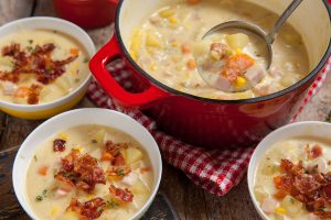 Creamy Ham Potato and Corn Chowder Recipe