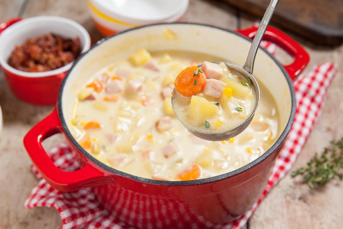 Easy Ham and Potato Soup Recipe