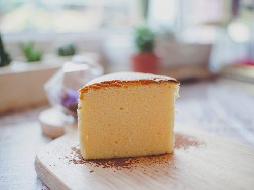 fluffy mocha castella cake