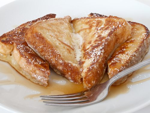 delicious french toast with butter