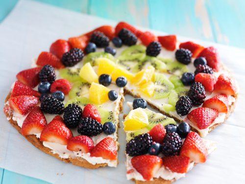 sweet fruit pizza