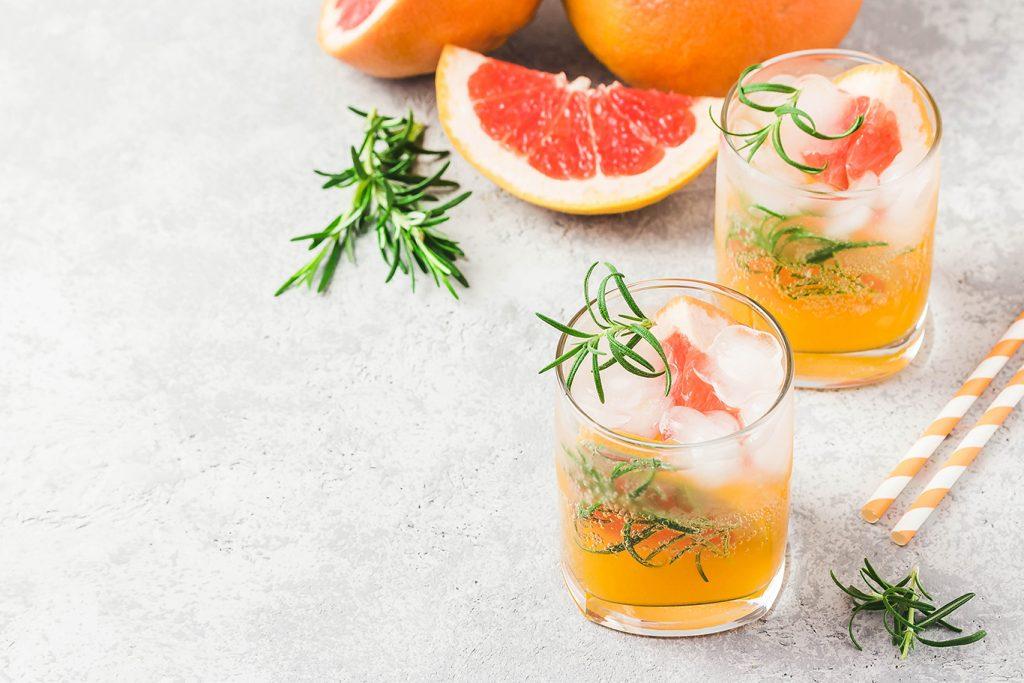 freezing grapefruit and elderflower