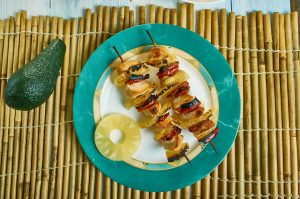 Hawaiian Bacon Pineapple Chicken Kebabs Recipe