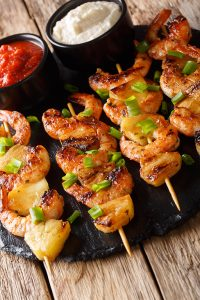 Honey Garlic Butter Shrimp Pineapple Skewers Recipe