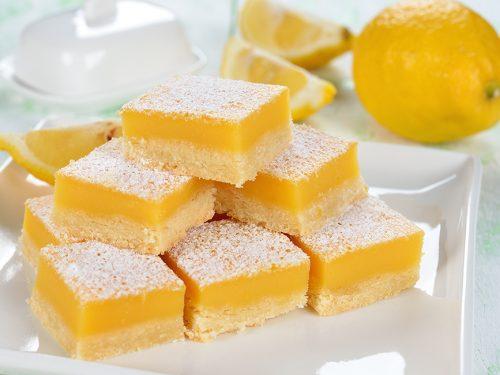 buttery lemon bars