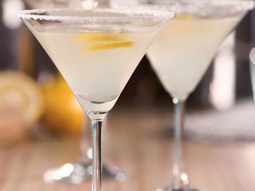 cold lemon drop martini