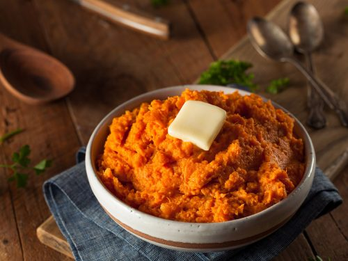 starchier mashed sweet potatoes
